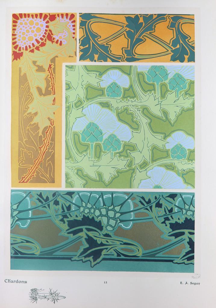 Les fleurs et leurs applications décoratives par E. Seguy