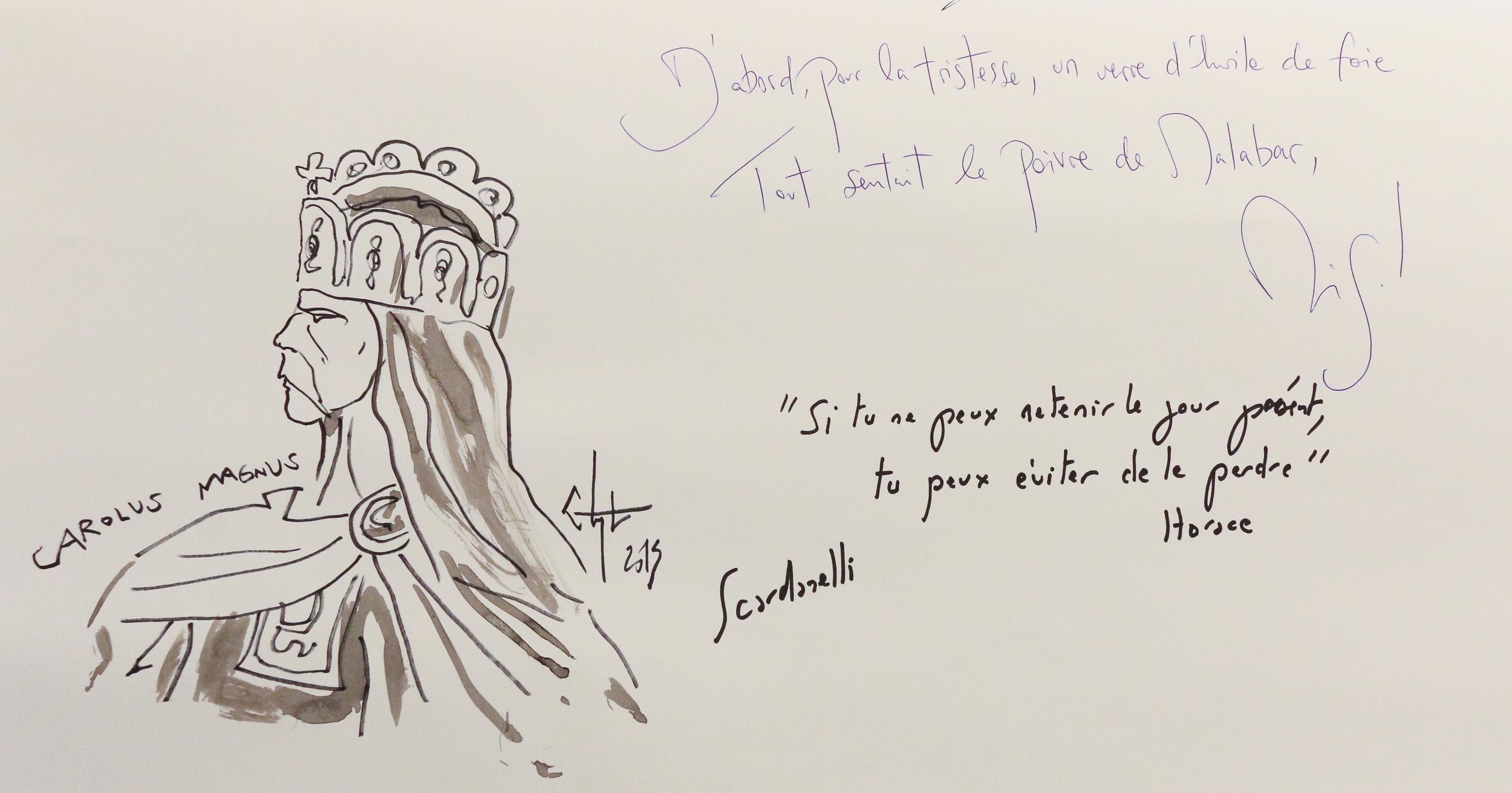 Scardanelli et Miguel Bonnefoy. Le cadavre exquis