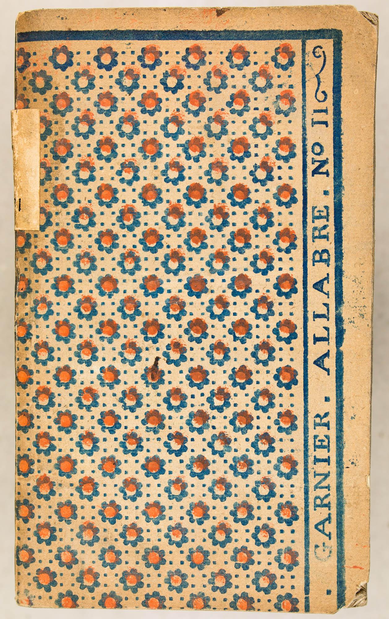 [A CHARTRES] GARNIER. ALLABRE. N° 11. Impression en bleu, rouge au patron. XVIIIe s.