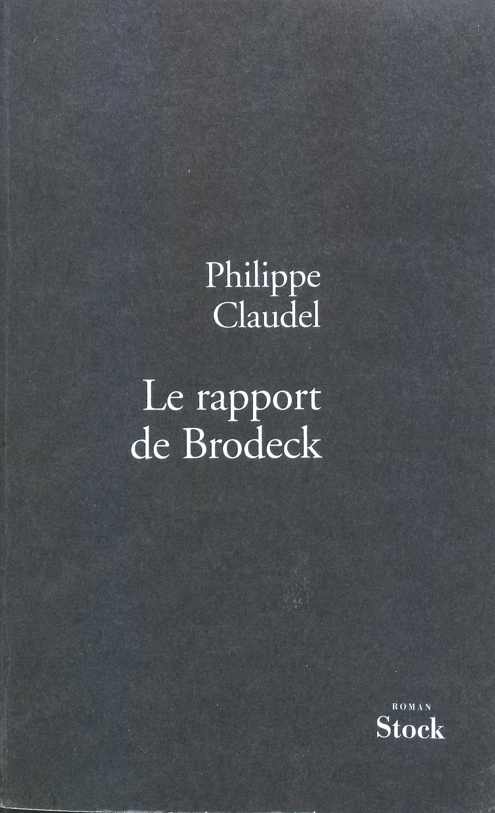 Couverture de Le rapport de Brodeck de Philippe Claudel