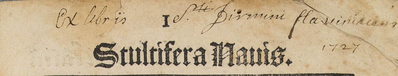Exlibris Saint-Firmin de Flavigny