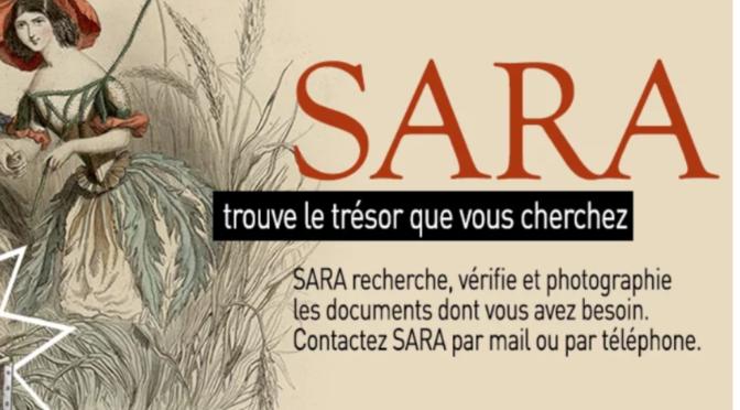 Page d'accueil du service SARA
